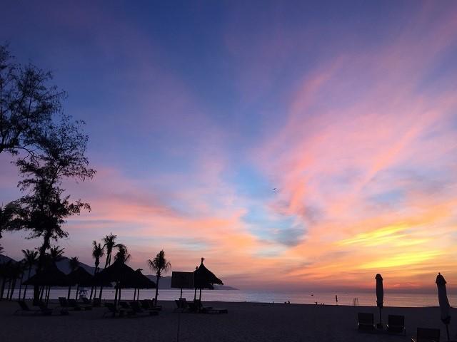 ダナンビーチのサンセット画像